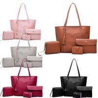 4PCS Popular Ladies PU Leather Shoulder Bags Women Purse And Handbags Sets Fashion Women Messenger Crossbody