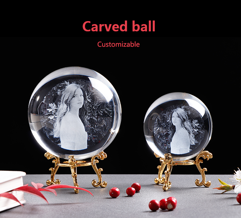 Personalized Crystal Photo Ball Customized Picture Sphere Globe Home Decor Accessories Baby Photo Gift for Girlfriend 11