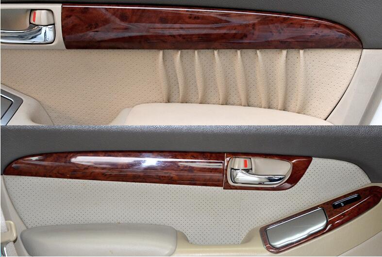 De luxe En Bois Chrome Pour TOYOTA Prado 2003-2009 Intérieur De la Voiture Côté Porte Cadre Décoratif capots de bordure Car Styling Auto Accessoires