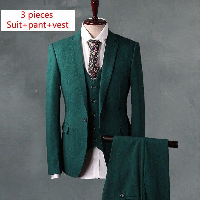 Aliexpress.com : Buy Green Slim Fit Men Suit Set luxury brand Men ...