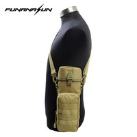 600D Nylon Military MOLLE Tactical Water Bottle Kettle Pouch With Strap Multi Purpose Bottle Holder For