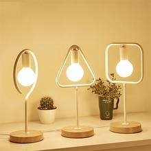 купить Modern Nordic  LED E27 Table Lamps Bedroom Bedside Reading Lighting Table Lights Iron Table Decoration Desk Lamps Light Fixtures по цене 2219.67 рублей