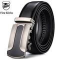 FIRE KIRIN Real Leather Belt Men Fashion Brand Men's Luxury Belts Automatic Buckles Casual ceinture homme luxe marque 2017 B45
