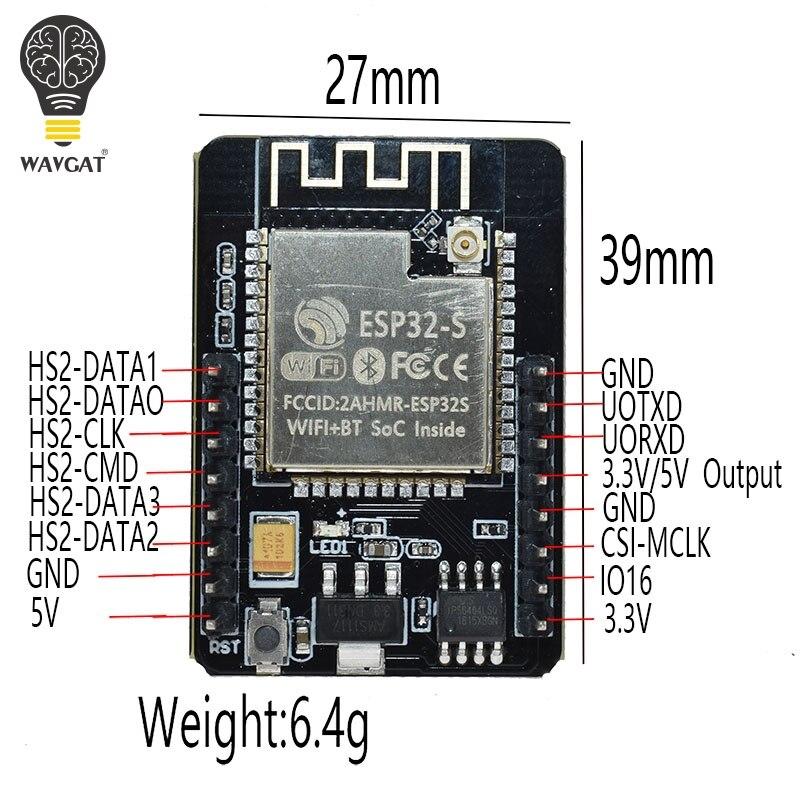 Image 4 - ESP32 CAM وحدة واي فاي ESP32 المسلسل إلى واي فاي ESP32 كام مجلس التنمية 5V بلوتوث مع وحدة الكاميرا OV2640الدوائر المتكاملة   -