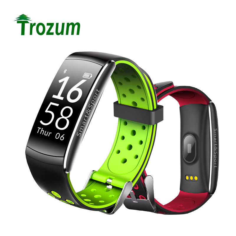TROZUM font b Smart b font Bracelet Q8 Wristband Heart rate IP68 waterproof Fitness tracker Sport