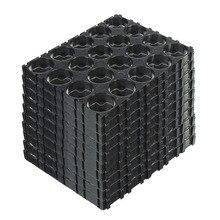 10/20/30/40/50 sztuk 4x5 komórek 18650 baterie Spacer posiadacze promieniowania powłoki uchwyt z tworzywa sztucznego DJA99