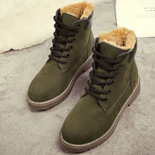 Fashion New Womens Snow Boots Casual Flats Winter Shoes Keep Warm Shoe Lace Up wo180832