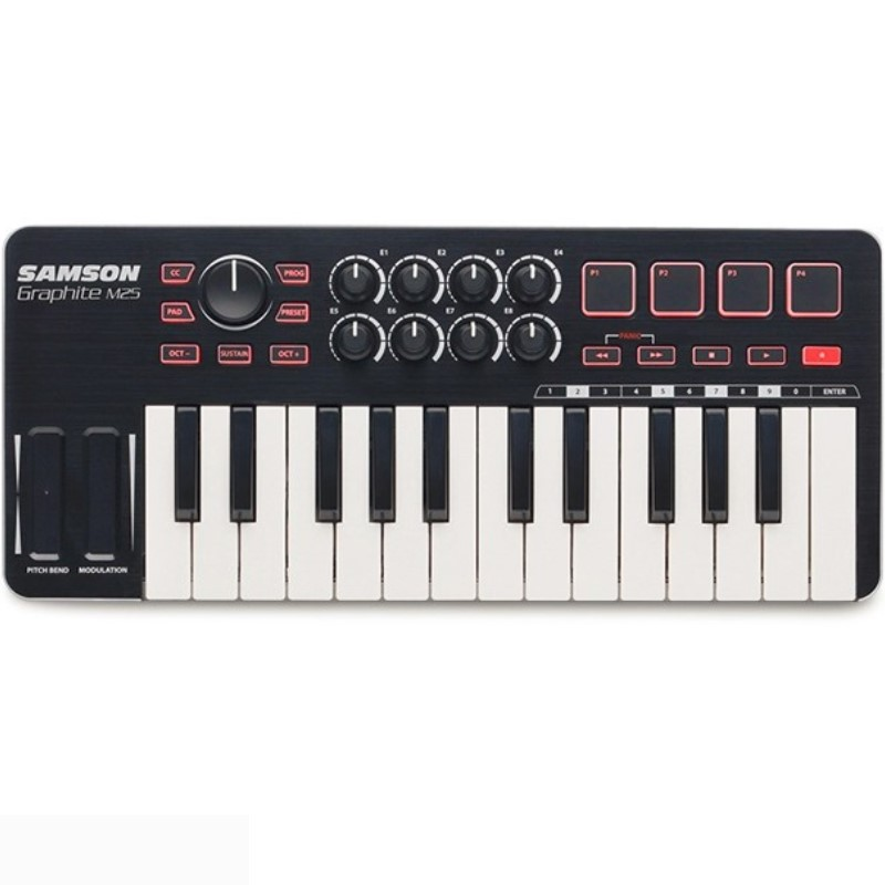 Original New Samson GRAPHITE M25 Mini USB MIDI Controller 25 Keys for ipad Keyboard portable for