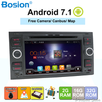 Bosion Car Multimedia Player Android 7.1.1 GPS Autoradio 2 Din 7 Inch For Ford/Mondeo/Focus/Transit/C MAX/S MAX/Fiesta 2GB RAM