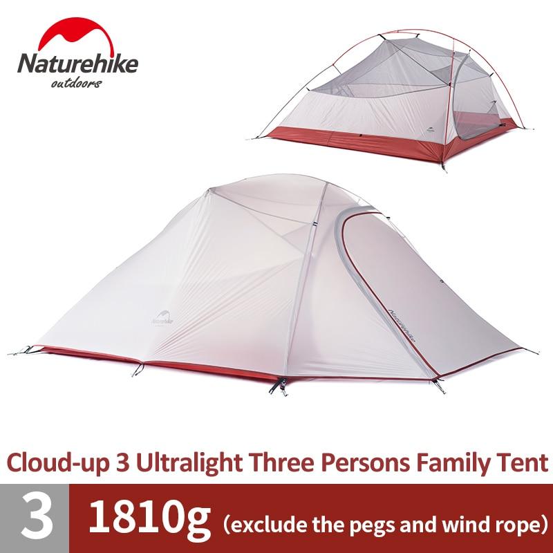 Tente familiale naturetrekking 3 personnes tente de randonnée ultralégère 4 saisons tente de randonnée en plein air tente de Camping étanche
