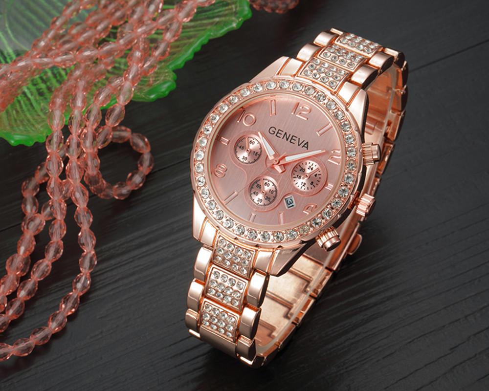 Branded Women Watches Top Brand Luxury 2017 Hot Sale relogio feminino Geneva Women Fashion Luxury Crystal Quartz Watch relojes(4)