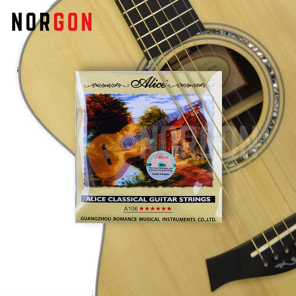 Alice Classic Guitar Strings 6-string Guitar Parts And Accessories Musical Nylon Core Silver-Plated Copper Alloy Winding A106