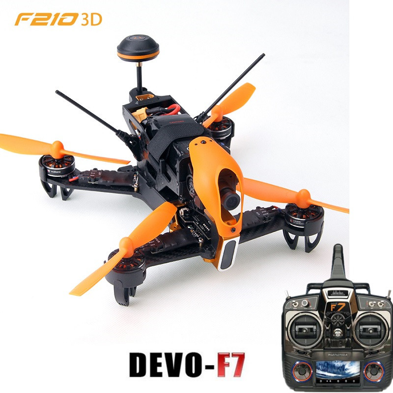 Original Walkera F210 3D Edition + DEVO F7 FPV Transmitter Remote Control Racing Drone with 700TVL Camera Drone RTF original walkera f210 with devo 7 transmitter rc drone quadcopter with osd 700tvl camera battery charger