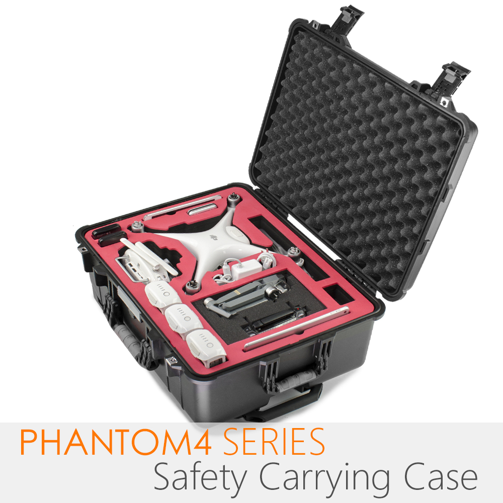 PGYTECH DJI Phantom 4 Series safety carrying case Waterproof Hard EVA foam Carrying Bag Box For Drone RC part Accessories dji phantom 4 series drone pc hard shell backpack carbon fiber carrying box for rc quadcopter storage tool accessories knapsack