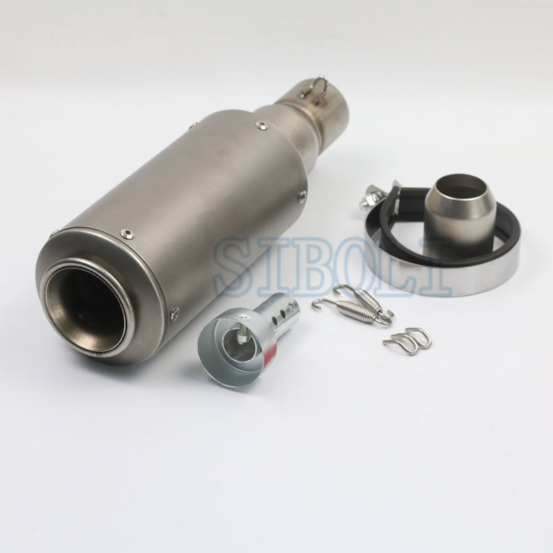 51MM Motorcycle Modified Exhaust Pipe With DB Killer Silencer Scooter Fit Most Motorbikes AK101