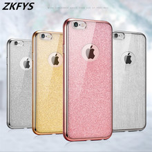 TPU Plating Gilded Case For iPhone 8 7 6S 6 Plus Cover For iPhone X 8 7 6 6S 5 5S SE Soft Silicone Glitter Case Bling Fundas цена и фото