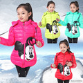 2016 winter baby girls coat children's clothes outerwear coat girl warm winter jackets for girls hooded children clothing