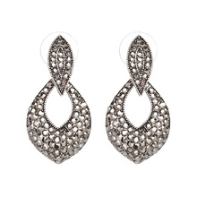 2017 New Arrival Jewelry Classic Vintage Statement Crystal Stud Earring Fashion Brinco For Women Wholesale FASHIONSNOOPS