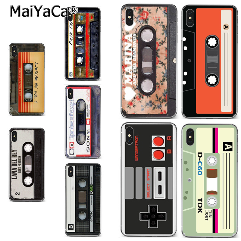 MaiYaCa retro mix cassette tape mixtape Audio cass On Sale Luxury Cool Phone Case for iPhone 8 7 6 6S Plus X XR XS MAX 5S SEcase(China)