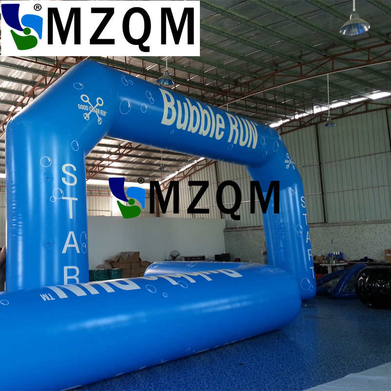 MZQM custom logo advertising inflatable entrance start finish line inflatable arch