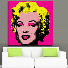 Pop Art hand painted Andy Warhol Marilyn Monroe Canvas Painting oil Posters Rosy Color Modular Pictures