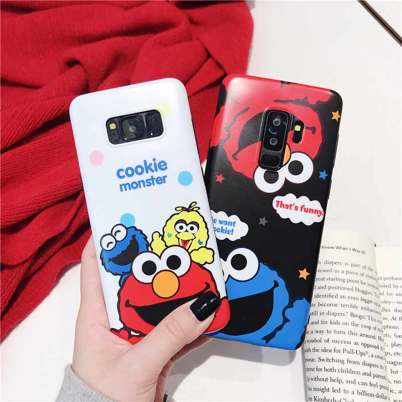 HYSOWENDLY Cookies Case for Samsung Galaxy S10 Plus Lite Cartoon Elmo Soft Silicone IMD Cover For Sam S7edge S8 S9 Plus Note 8 9