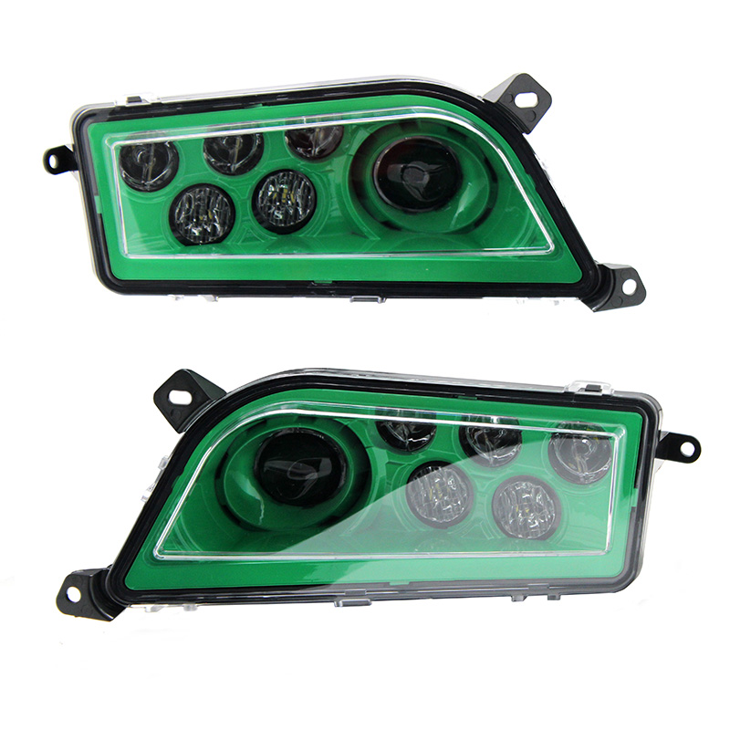 2015-2017 POLARIS RZR 900 S - ELECTRIC GREEN LED HEADLIGHTS CONVERSION 1000 STYLE