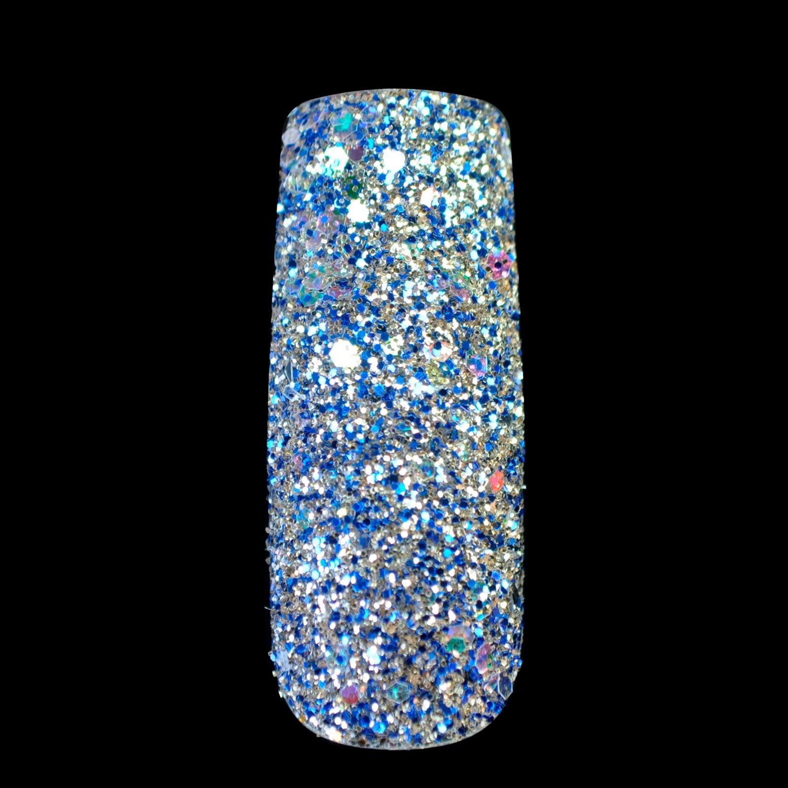 Pro Shiny White Rainbow Blue Colorful Glitter UV Powder Dust Acrylic ...