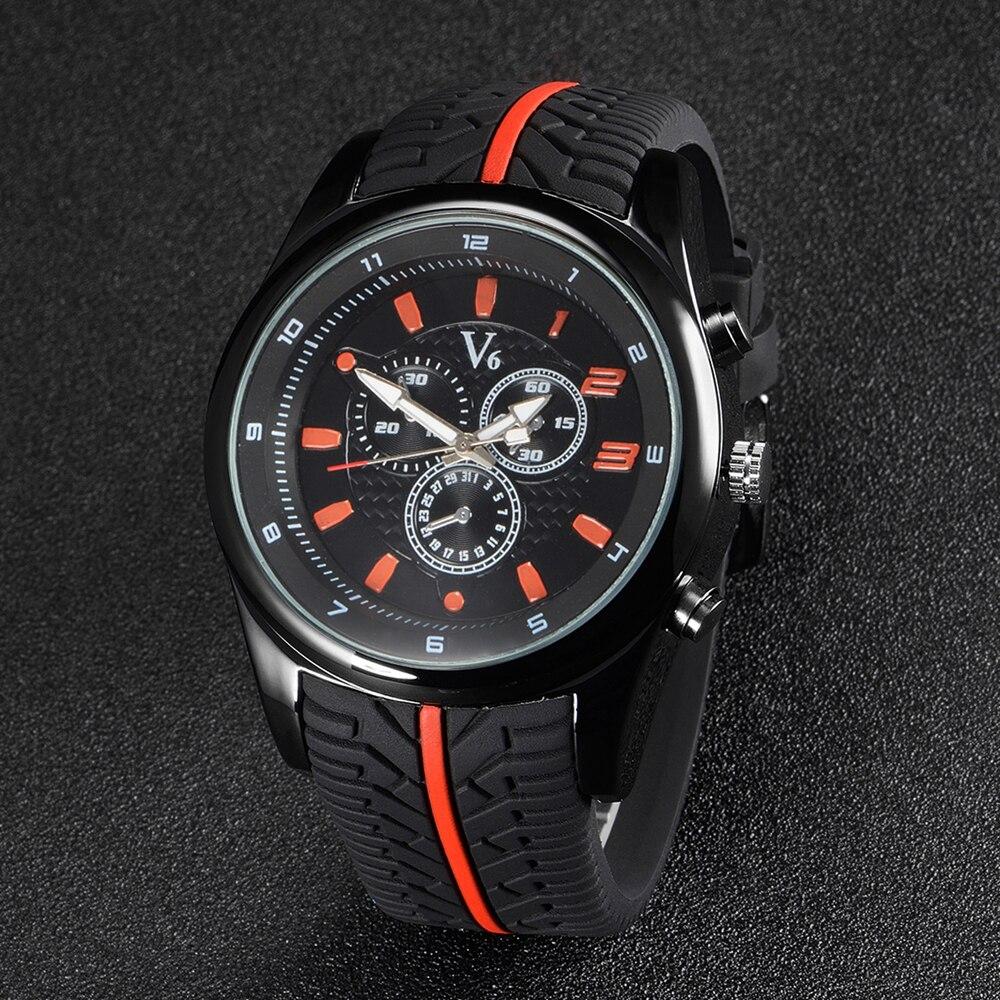 Nová móda Nejlepší značka V6 Muži Quartz Pohyby Náramkové - Pánské hodinky