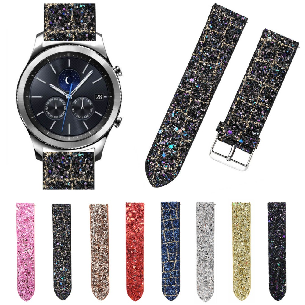 22mm Glitter Bling Christmas Band for Samsung Gear S3 Frontier Sparky Shiny Leather Strap Watchband Bracelet for Gear S3 Classic л а захарова г н старикова история русского языка историческая грамматика