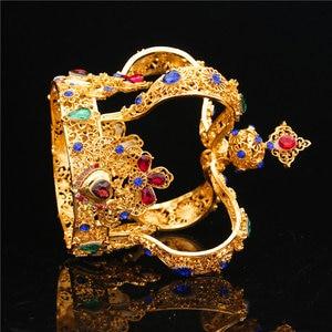 Image 4 - تاج الملك الملكي الباروكي للتزيين بالزفاف والتيجان للنساء تاج الملكة والتيجان مجوهرات الرأس