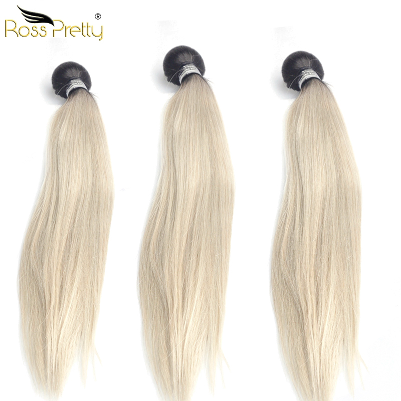 Peruvian Hair Extension Remy Human Hair Bundles lengths 10-28Inch 3pcs Peruvian Ombre co ...