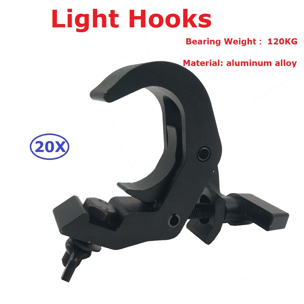 20Pcs/Lot Stage Lighting Equipments High Quality Aluminium Alloy Material Light Hooks For LED Beam Moving Head Wash Lights