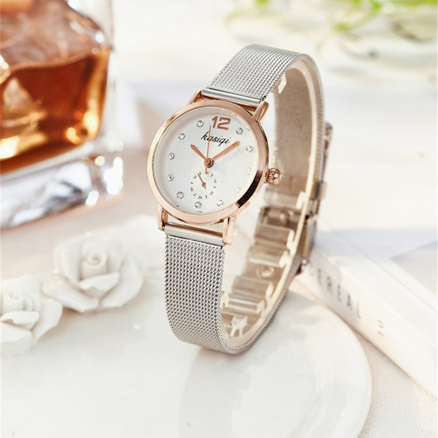 Stainless Steel Rhinestone Couple Watch Set 2