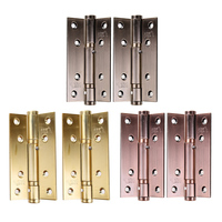 2pcs/set Stainless Steel Cabinet Closet Door Hinges 90 Degree Self Closing Furniture Hardware Cupboard Hinges