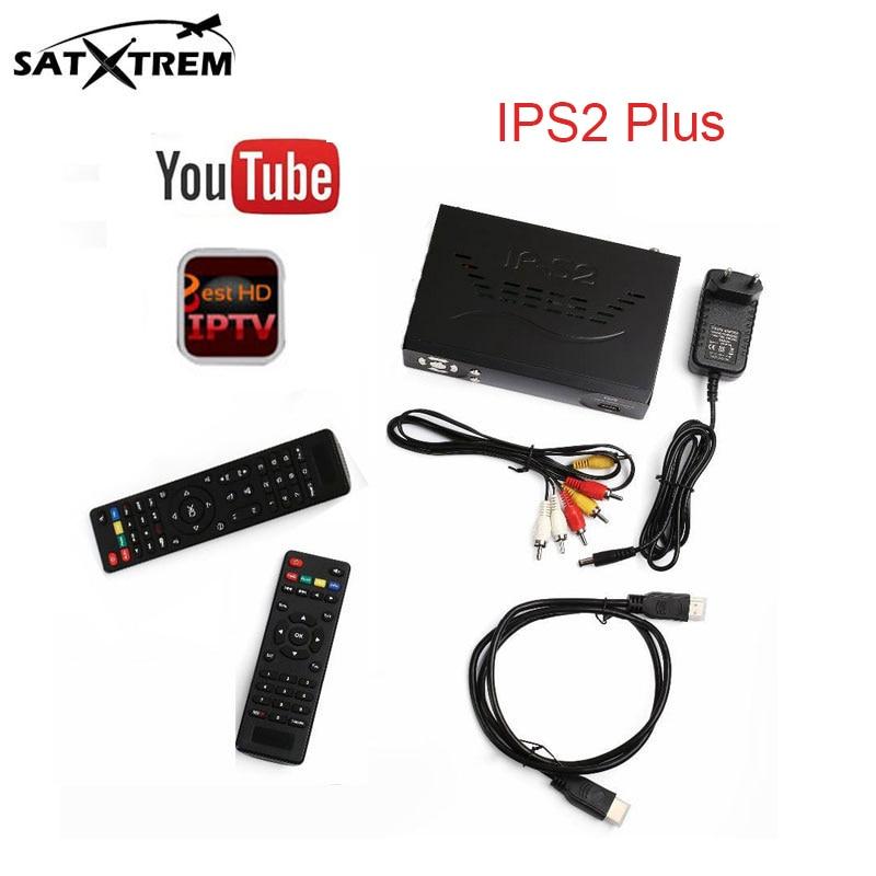 IPS2 Plus DVB-S2 IPTV Box Digital Video Broadcasting satellite tv receiver supoport cccam cline for 1 year iptv 1400+channels
