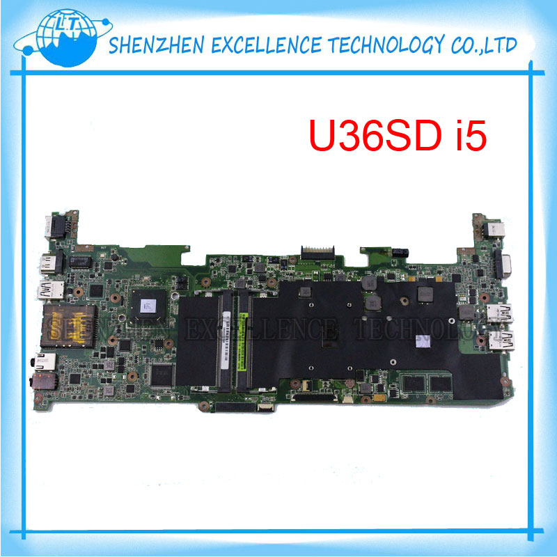 U36SD motherboard with I5 CPU for Asus U36SG U44SG laptop motherboard REV 2.1 100% Tested 60 days warranty