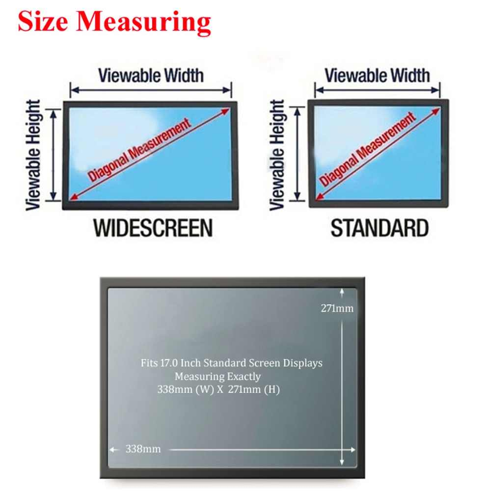 17 inch diagonally measured anti glare privacy filter for standard screen  [ 1000 x 1000 Pixel ]