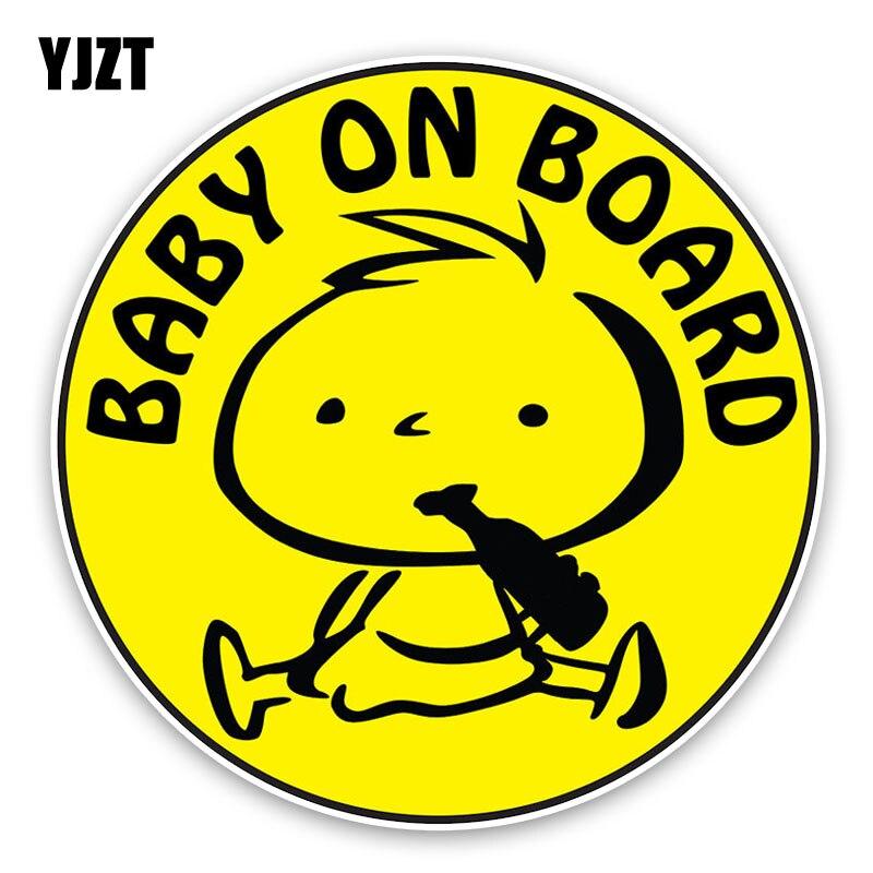 Yjzt 12.9*12.9 см ребенок на борту пиво графические Цветной украшение автомобиля Стикеры Предупреждение знак c1-5593
