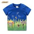 Animais dos desenhos animados Dos Meninos T-shirt 2016 Roupas de Verão Novas Crianças Assentamento Camisa Do Bebê Dinossauro Menino Da Criança T-shirt Roupas para Crianças