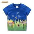 Animales de la historieta Camiseta de Los Muchachos 2016 Niños Del Verano Nuevos Ropa del Dinosaurio Del Muchacho Del Niño Del Bebé Que Basa La Camisa T-shirt Ropa Para Niños
