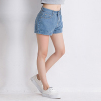 AQ51 Summer Women Short Pants Loose Cotton Hot Shorts Plus Size Women High Waist Denim Shorts