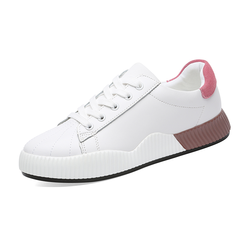 Small White Shoes Female 2019 Spring Leather Korean Flat Student Casual Spring 2018 Foreign Gas Network Red Girl Heart Ins