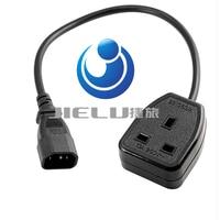 High quality UPS Power Cable IEC C14 Male plug to UK 13A Female Socket BS1363,180cm,1 pcs