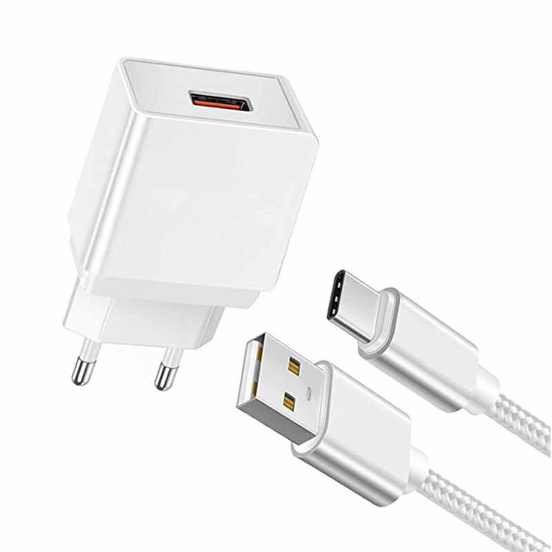 Google Pixel 3 XL Fast Charger charging Type-C USB Cable Charger + 1M Type-C Cable For Huawei Xiaomi Samsung note 9 A7 A9 2018