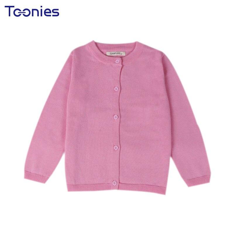 2018 10 Colore New Baby Abbigliamento Per Bambini Ragazzi Ragazze di Colore Della Caramella Lavorato A Maglia Cardigan Maglione Bambini Primavera Autunno Cotone di Usura Esterno
