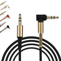 Аудио 2018 золотое покрытие кабель 3, 5 мм мужчинами автомобилей AUX кабель вспомогательный шнур джек стерео аудио кабель для телефона МР3