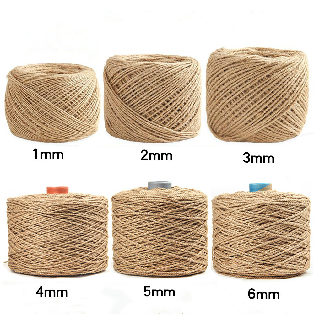 1-20 mm Thickness High quality Natural handmade jute rope Variety thickness rope  For Gift Flower packing Diy handcraft supply drawer