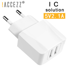 !ACCEZZ Dual EU Plug Fast USB Charge Adapter For iPhone Samsung Xiaomi Huawei Sony