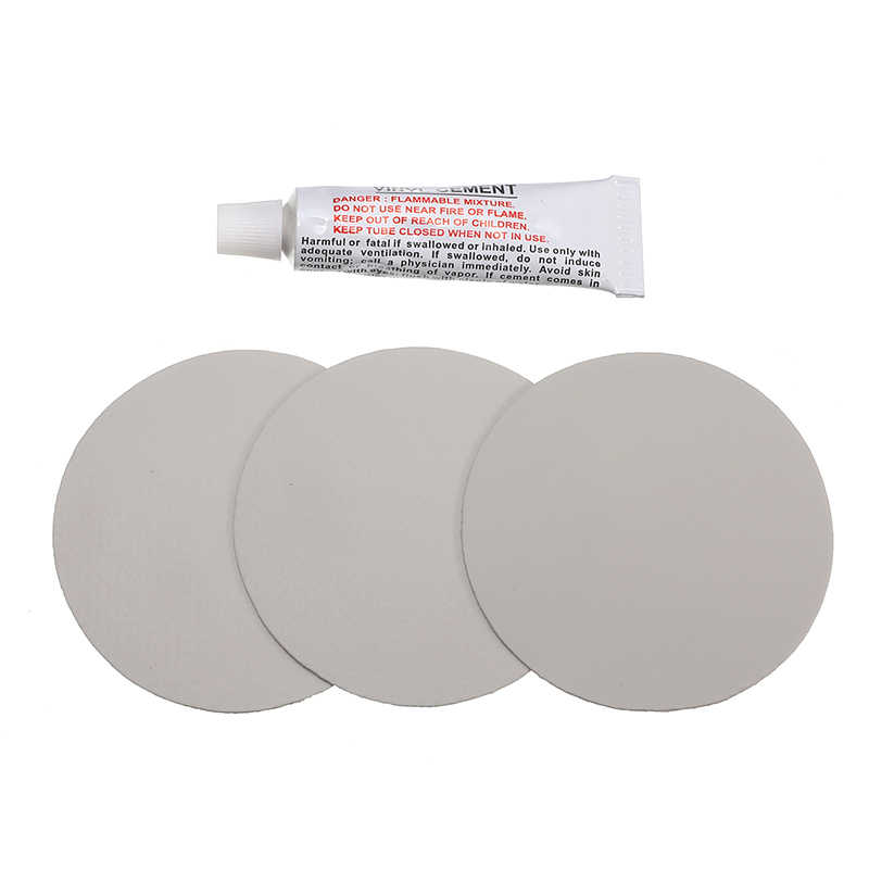 Pvc Bandenreparatieset Patch Lijm Kit Lijm Voor Opblaasbare Speelgoed Zwembaden Float Air Bed Rubberboten Circulaire Patches